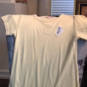 Gianni Bini girls size M yellow tee shirt dress